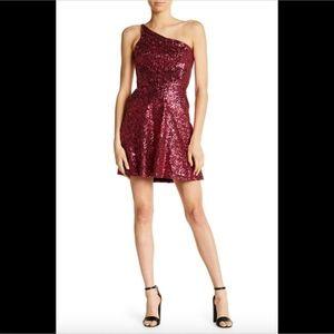 NEW Dress the Population Tina One-Shoulder dress